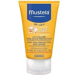 Mustela Bebe Sun - Солнцезащитное молочко с очень высокой степенью защиты SPF 50+, 100 мл