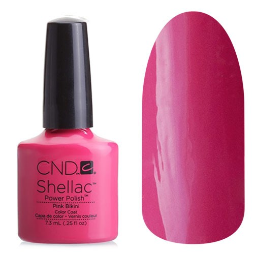CND Shellac Summer Splash Pink Bikini - Гелевое покрытие # 044, 7,3 мл