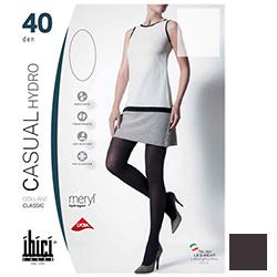 Ibici Casual 40 Hydro - Прозрачные колготки цвет кофе, размер 1