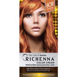 Фото - Richenna Color Cream 8 or - Крем-краска для волос с хной, светло-русый richenna крем краска для волос с хной 6n light chestnut