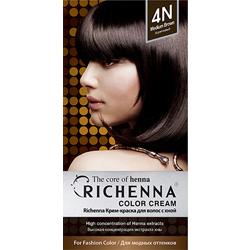Фото - Richenna Color Cream 4 n - Крем-краска для волос с хной, коричневый richenna крем краска для волос с хной 6n light chestnut
